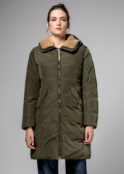 HOLUBAR: VERMILION NP23 PARKA JACKET COLOR OLIVE GREEN
