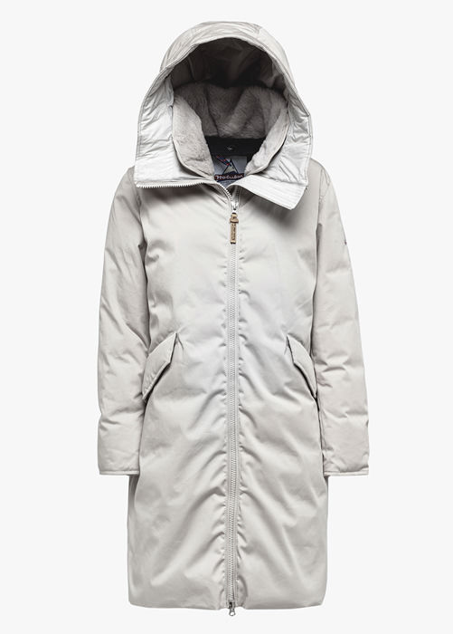 HOLUBAR: VERMILLION LI77 PARKA JACKET COLOR BEIGE