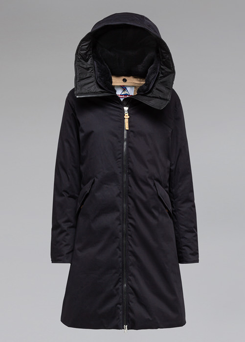HOLUBAR: VERMILLION LI77 PARKA JACKET COLOR BLACK