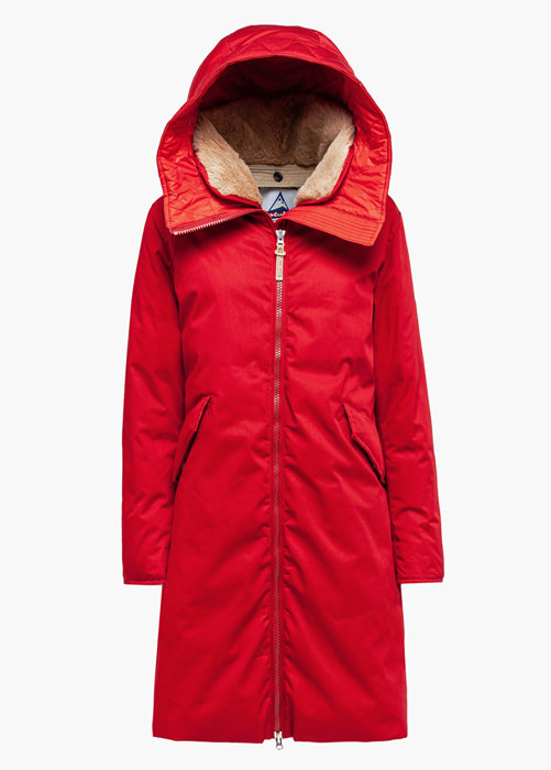 HOLUBAR: VERMILLION LI77 PARKA JACKET COLOR RED
