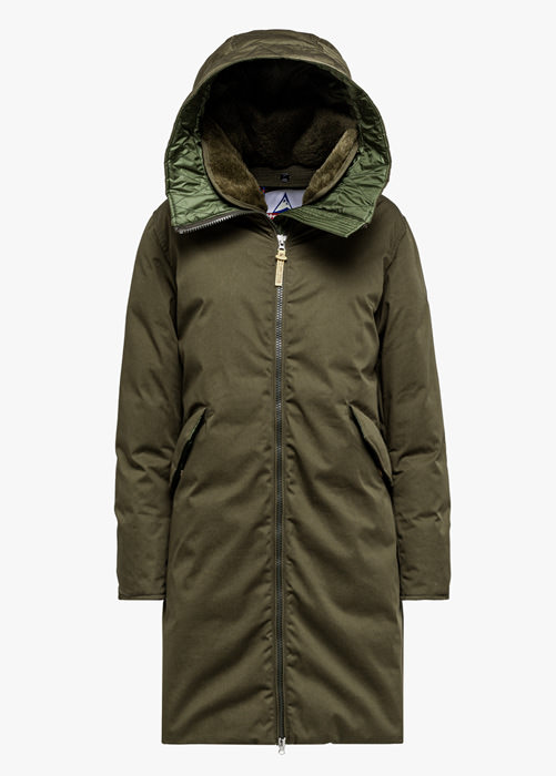HOLUBAR VERMILLION LI77 PARKA JACKET COLOR GREEN