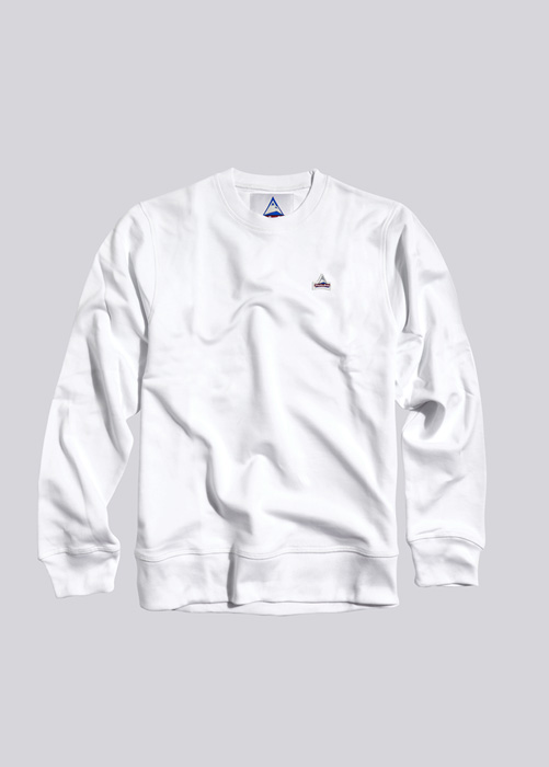 HOLUBAR SWEATSHIRT PATCH BF12 WHITE