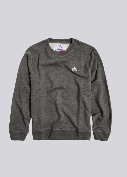 HOLUBAR: SWEATSHIRT PATCH BF12 MELANGE GRAY