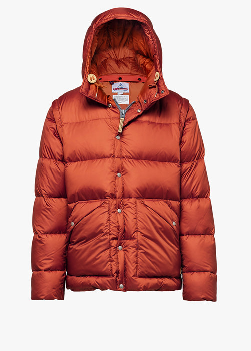 HOLUBAR: DEEP POWDER BU15 DOWN JACKET COLOR ORANGE