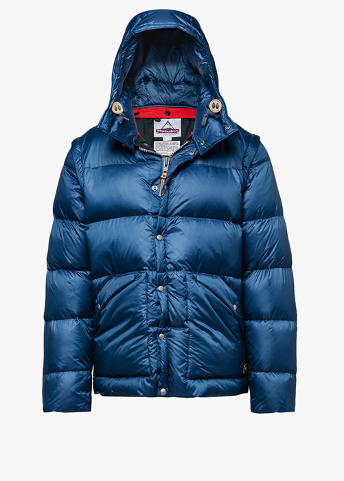 HOLUBAR: DEEP POWDER BU15 DOWN JACKET COLOR BLUE