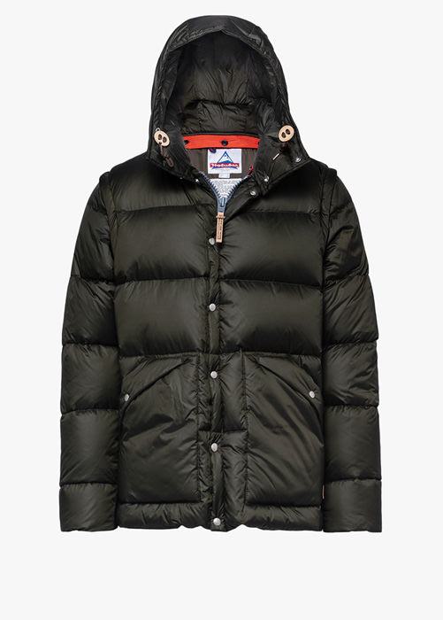 HOLUBAR: DEEP POWDER BU15 DOWN JACKET COLOR GREEN