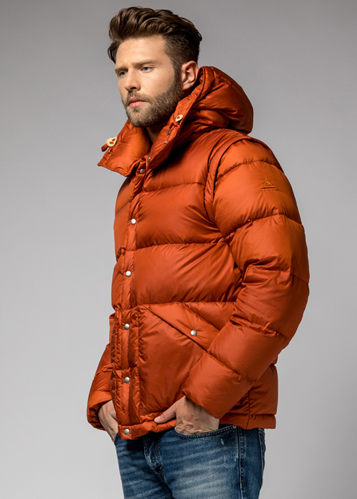 HOLUBAR: DEEP POWDER MS BU15 DOWN JACKET COLOR ORANGE