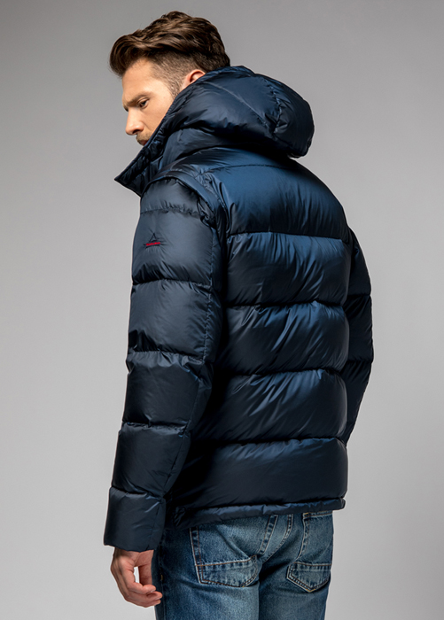 HOLUBAR: DEEP POWDER MS BU15 DOWN JACKET COLOR DARK BLUE