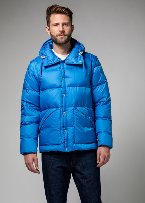 HOLUBAR: DEEP POWDER MS BU15 DOWN JACKET COLOR LIGHT BLUE