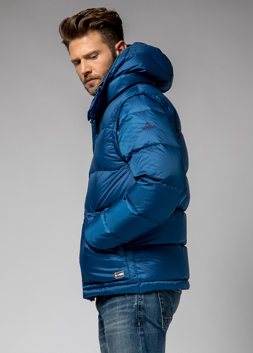 HOLUBAR: DEEP POWDER MS BU15 DOWN JACKET COLOR NEW ROYAL