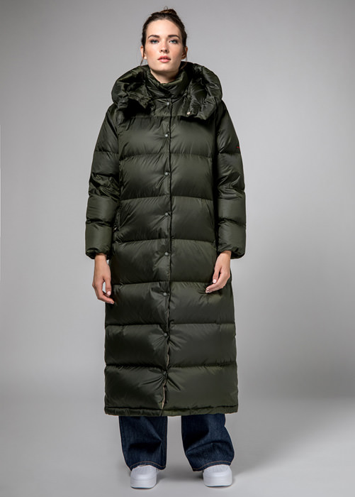 HOLUBAR GREEN  MUSTANG  BU15  EXTRA  LONG  DOWN  JACKET