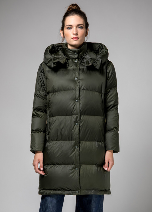 HOLUBAR: GREEN  MUSTANG  BU15  LONG  DOWN  JACKET