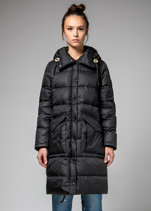 HOLUBAR: BLACK  MONTANA  BU15  DOWN  JACKET