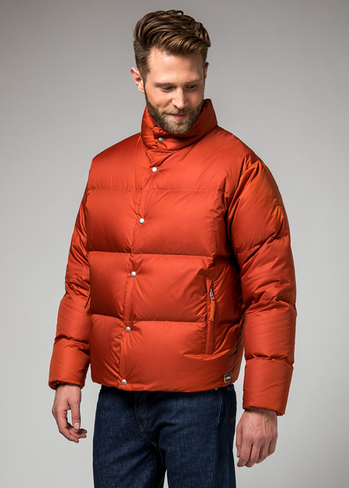 HOLUBAR MUSTANG BU15 DOWN JACKET COLOR DARK ORANGE