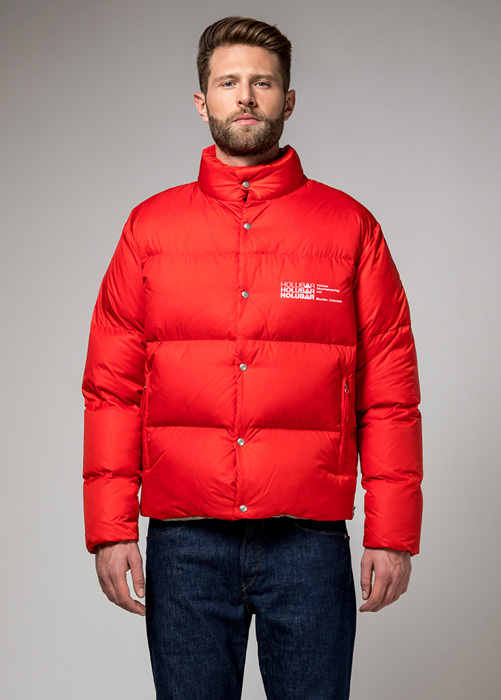 HOLUBAR: MUSTANG BU15 DOWN JACKET COLOR RED