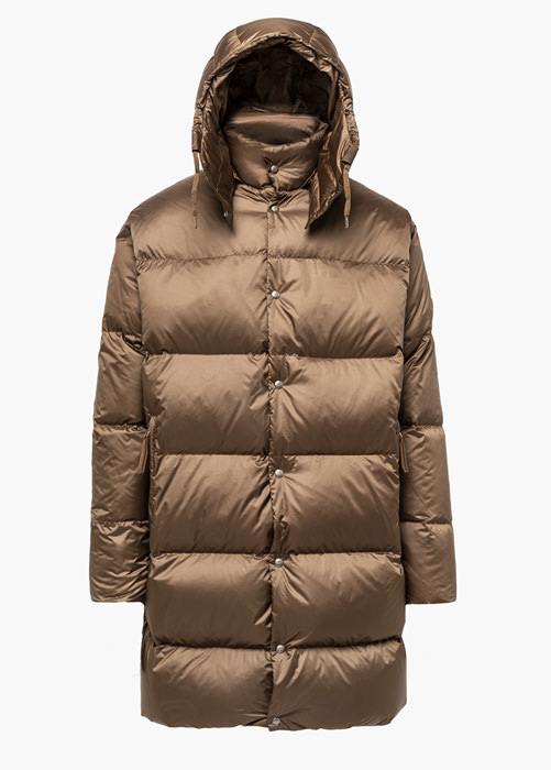HOLUBAR: MUSTANG LONG BU15 DOWN JACKET COLOR BEIGE