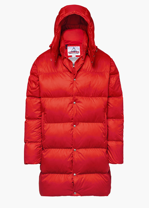 HOLUBAR: MUSTANG LONG BU15 DOWN JACKET COLOR RED