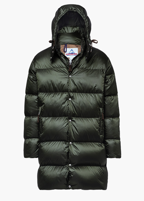 HOLUBAR: MUSTANG LONG BU15 DOWN JACKET COLOR GREEN