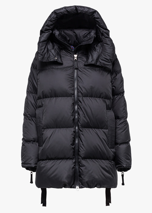 HOLUBAR: MUSTANG MID BU15 DOWN JACKET COLOR BLACK
