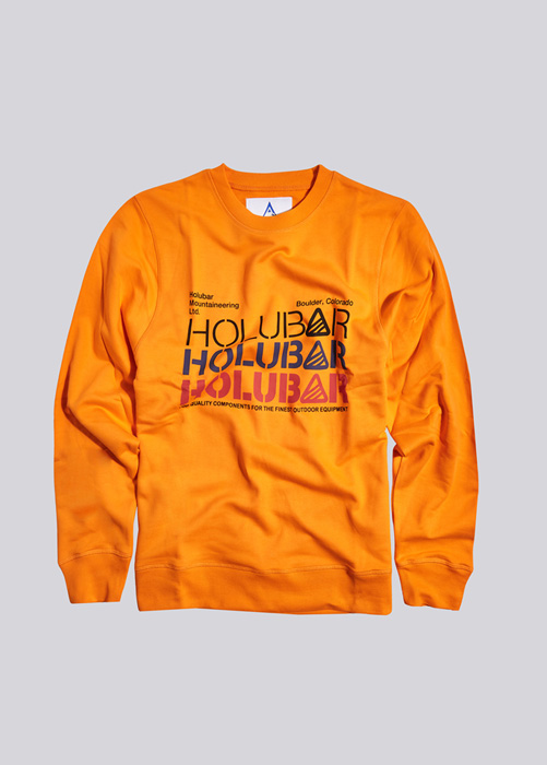 HOLUBAR SWEATSHIRT TRIPLE LOGO BF12 ORANGE