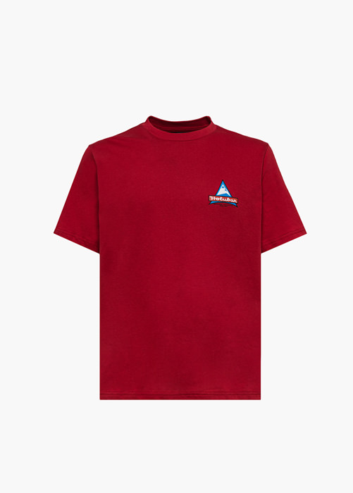 HOLUBAR: RED JJ20 LOGO T-SHIRT