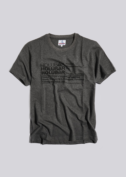 HOLUBAR T-SHIRT TRIPLE LOGO JJ23 GRAY